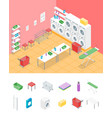 laundry room concept interior and elements part vector image vector image