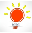 Light bulb inspirational background in modern vector image vector image