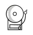 line school bell education alarm alert vector image