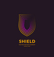 linear shield a symbol security and vector image vector image