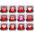 Love icons vector image vector image