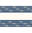 Marine ropes and knots borders frame vector image