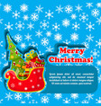 merry christmas design postcard vector image vector image