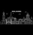 mumbai silhouette skyline india - mumbai vector image vector image
