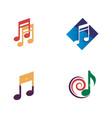 music logo icon vector image vector image
