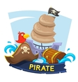Pirate concept design vector image vector image