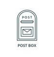 post box line icon linear concept outline vector image vector image