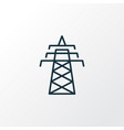 power tower icon line symbol premium quality vector image vector image