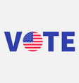 president election day 2020 vote blue text badge vector image