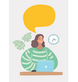 pretty woman having business conversation vector image vector image