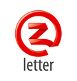 red round logo letter Z vector image vector image