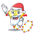 santa kite with on clouds shape character vector image vector image