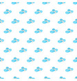seamless pattern summer beach bonnet background vector image vector image