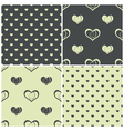 seamless patterns with hearts vector image