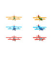 set color model an old plane isolated on vector image vector image