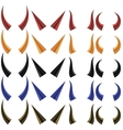 Set of Different Colorful Horns vector image vector image