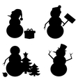 Snowman Silhouette vector image vector image