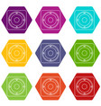 speaker icons set 9 vector image vector image