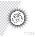 symbol om - isolated minimalistic icon vector image vector image