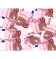 ten euro background vector image vector image
