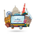 travel in india concept indian most famous sights vector image vector image