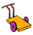 trolley for luggage icon icon cartoon vector image