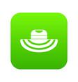 women beach hat icon digital green vector image