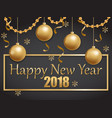 happy new year 2018 gold and black vector image