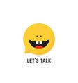childish speech therapist logo vector image