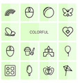 14 colorful icons vector image vector image