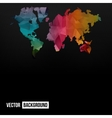 Abstract Telecommunication Earth Map vector image