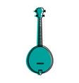 acoustic guitar banjo icon image vector image