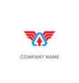 arrow wing emblem logo vector image vector image