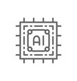artificial intelligence chip electronic circuit vector image