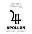 astrology apollon uranian planet vector image vector image
