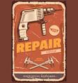auto service retro banner for car repair design vector image vector image