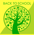 back to school trendy abstract background vector image
