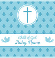 baptism invitation template vector image vector image
