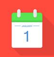 beginning of calendar icon flat style