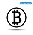 bitcoin coin icon eps 10 vector image vector image