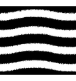 Black and white pattern of wavy grunge stripes vector image