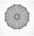 black geometry mandala over white vector image vector image