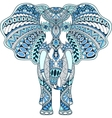 blue decorated Indian Elephant vector image vector image