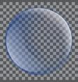 blue soap bubble icon realistic style vector image