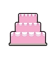 cake party cream bakery icon graphic vector image vector image