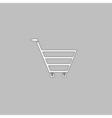 cart computer symbol vector image vector image