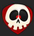 Cartoon grim reaper face avatar