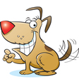 Cartoon Smiling Dog vector image vector image