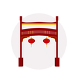 Chinese gate Paifang vector image