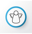 christmas angel icon symbol premium quality vector image vector image